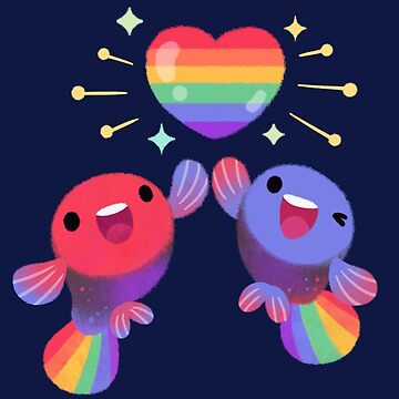 Rainbow guppy 4 by pikaole