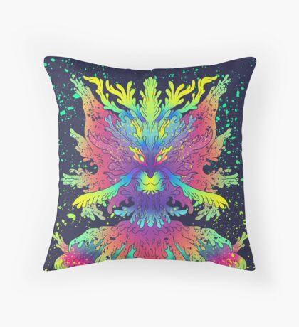 Neon Critter Throw Pillow