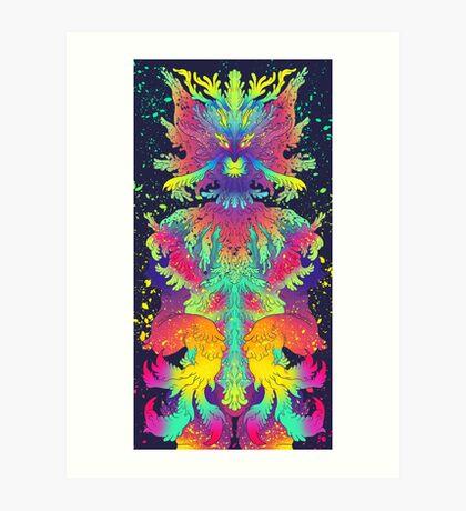 Neon Critter Art Print