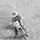 b/w motocross competitor by gaylene