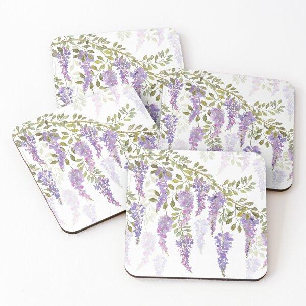 Wisteria Blossoms Coasters (Set of 4)