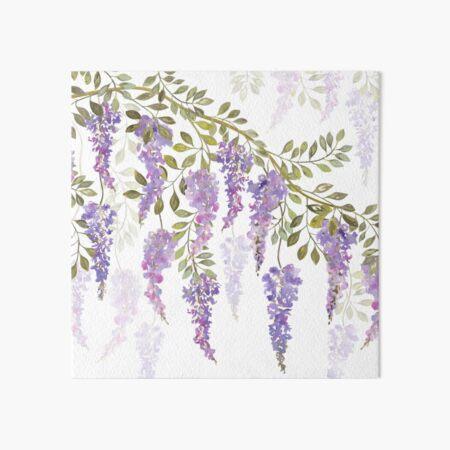 Wisteria Blossoms Art Board Print
