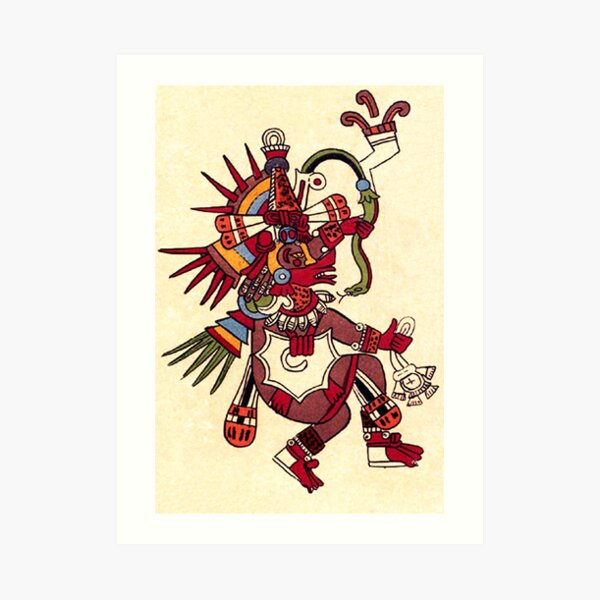 MAYA. MAYA. Quetzalcoatl, serpiente emplumada, como se muestra en el Codex Borbonicus. Lámina artística