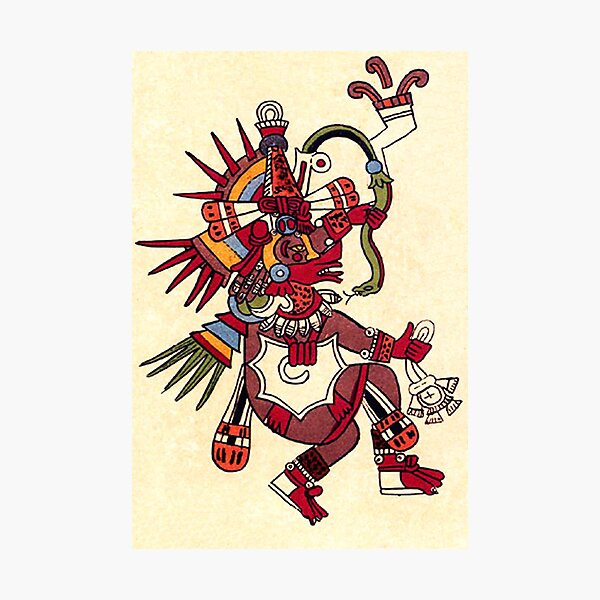 MAYA. MAYAN. Quetzalcoatl, feathered serpent, as depicted in the Codex Borbonicus. Photographic Print