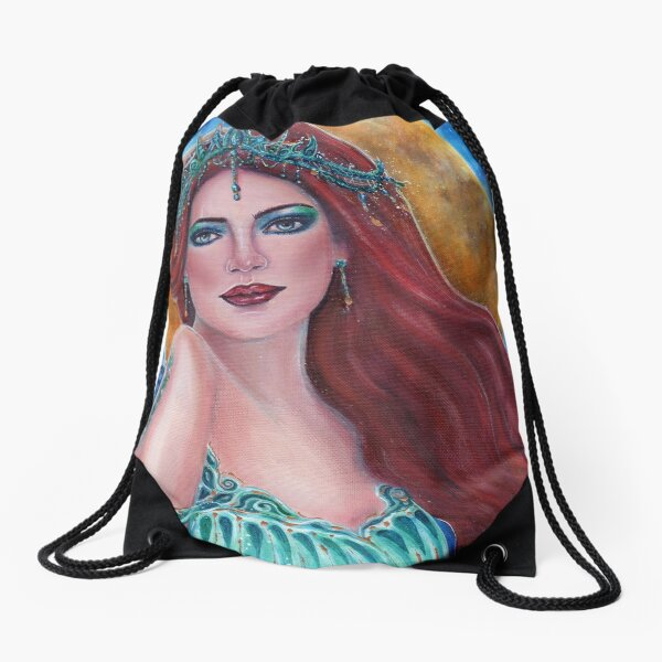 Gym Drawstring Bags Roses Mixed Kaleidoscope Draw Rope Shopping Travel Backpack Tote Student Camping