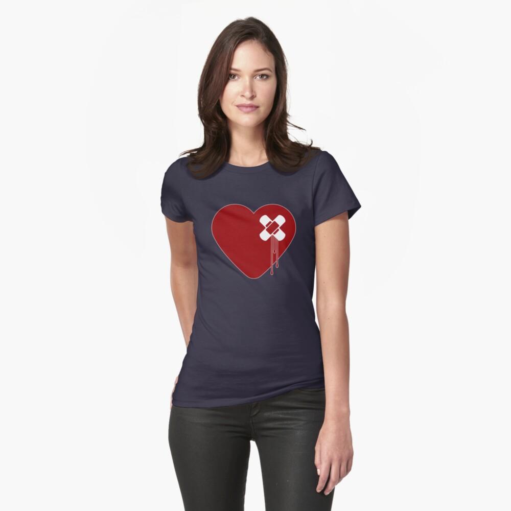 Heart Broken Fitted T-Shirt