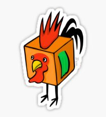"""Cube Rooster"" Sticker"
