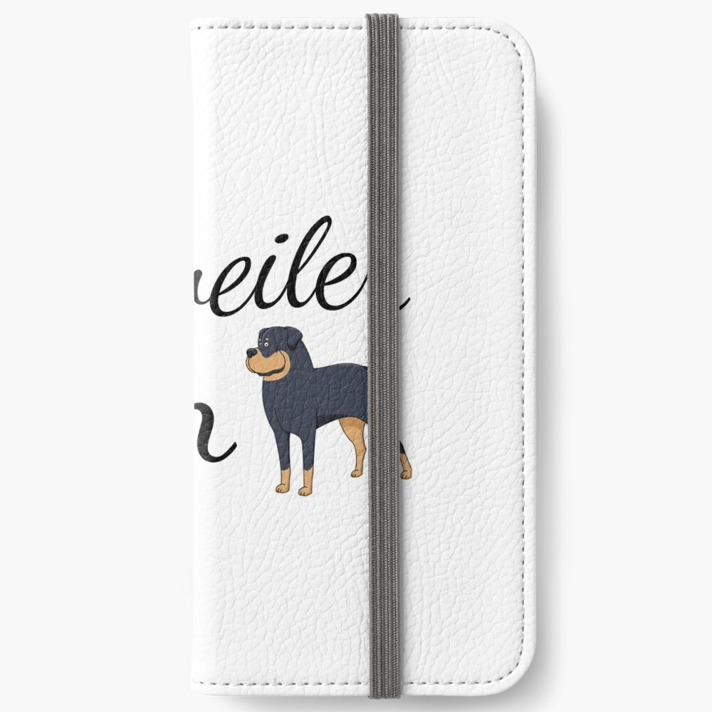 Rottweiler Mom iPhone Wallet