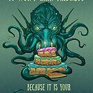 Cthulhu Lovecraft Geburtstagstorte von PathOfPixels