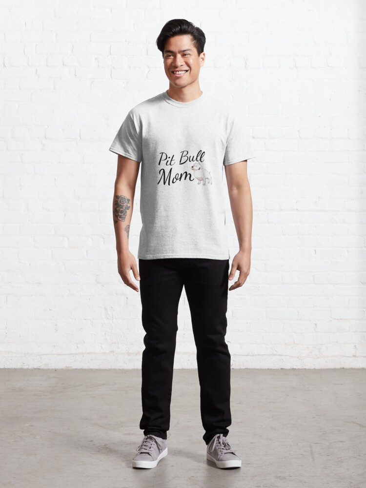 Alternate view of Pit Bull Mom Classic T-Shirt