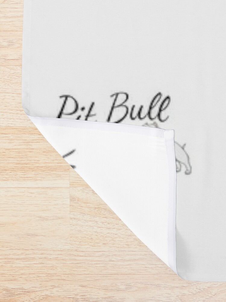 Alternate view of Pit Bull Mom Shower Curtain