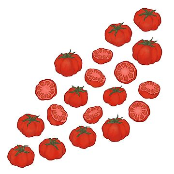 Red Tomatoes Cut And Whole by carabara
