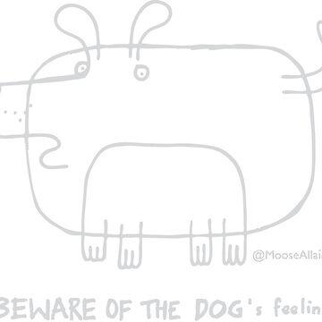 Beware of the dog - grey print for dark Ts by worldofmoose