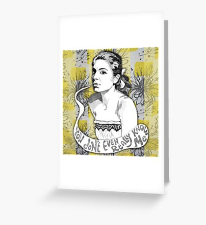I wish you knew how I love handmade lace... Greeting Card