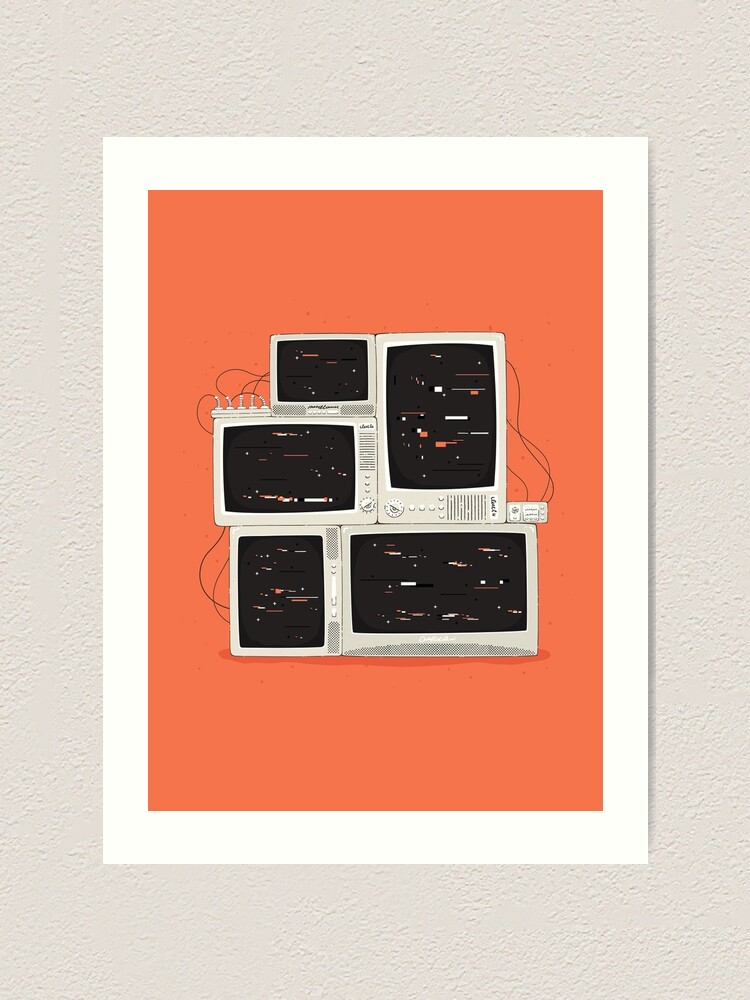Alternate view of Please Stand By - TV Glitch Art Print