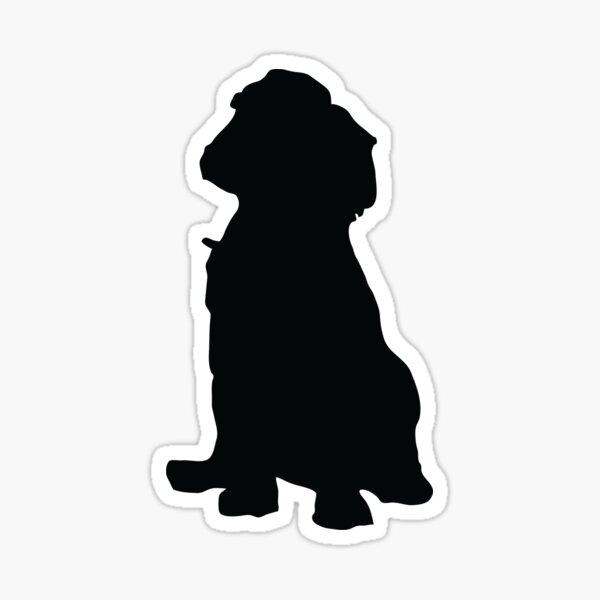 Cocker Spaniel Puppy Dog Silhouette  Sticker