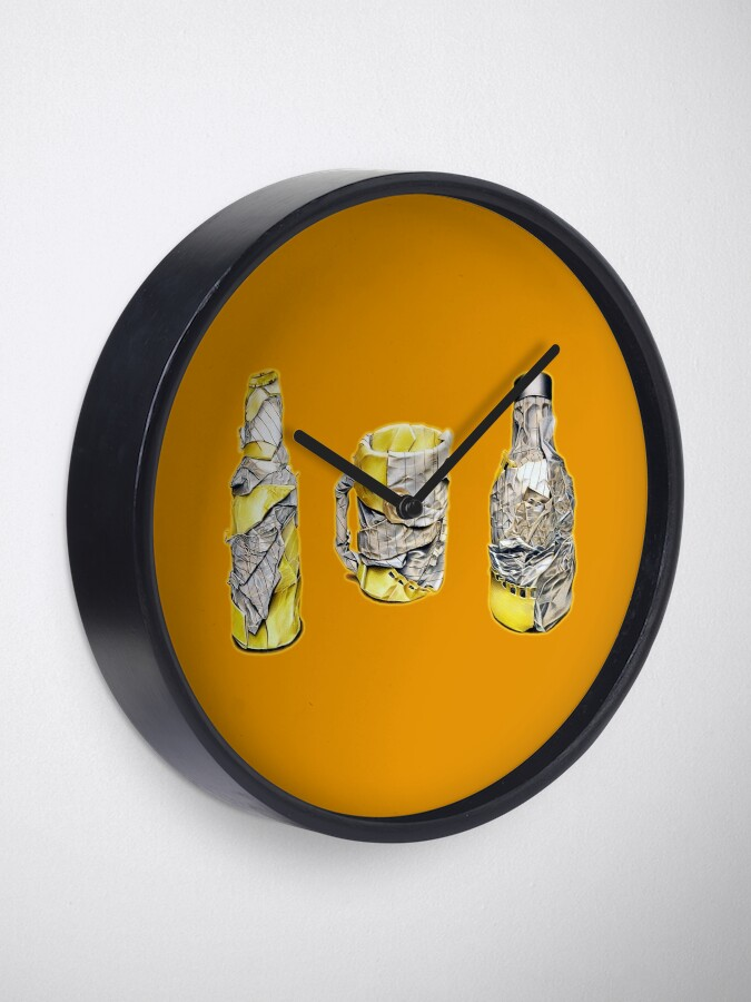 Alternate view of Pres (Colour pencil drawing) Clock