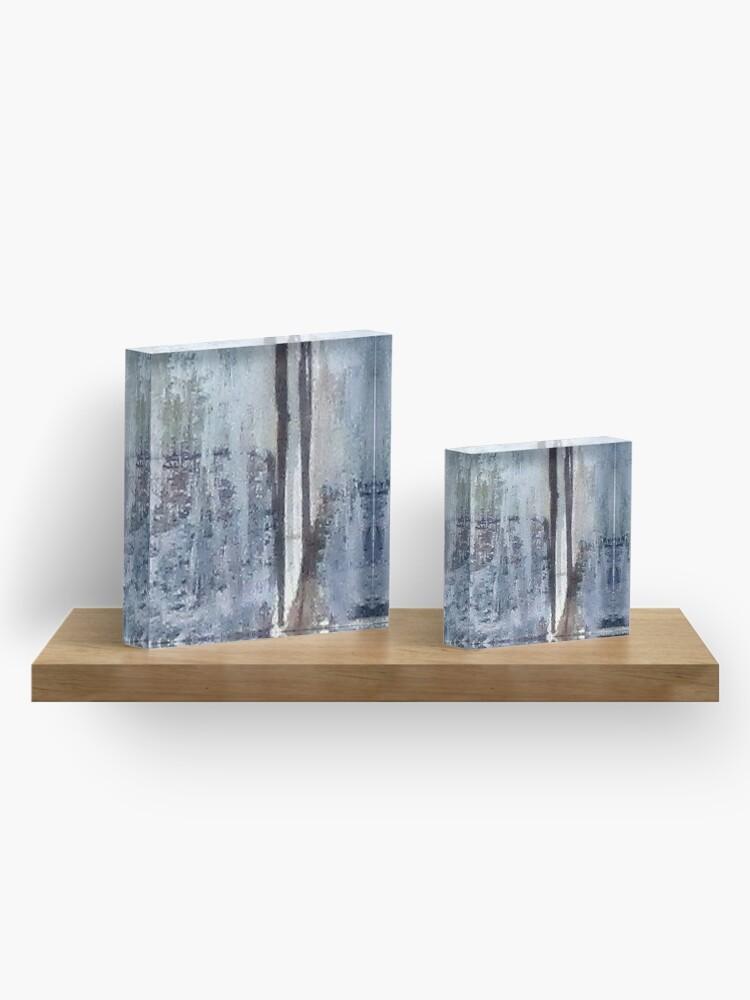 Alternate view of Digital Abstract N13. Acrylic Block
