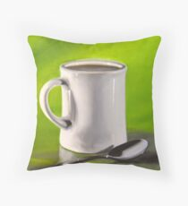 Mug and Spoon Throw Pillow