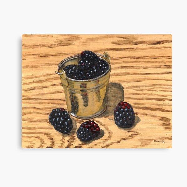 (Mini) Jugful of Blackberries Canvas Print