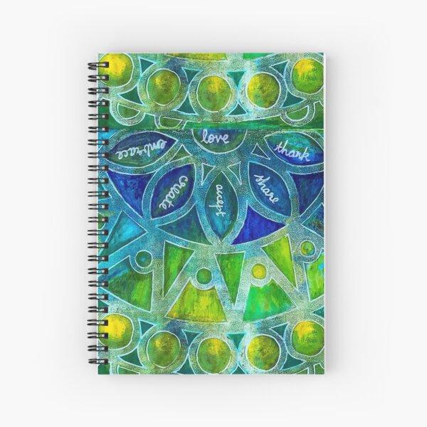 Chakra of life Spiral Notebook