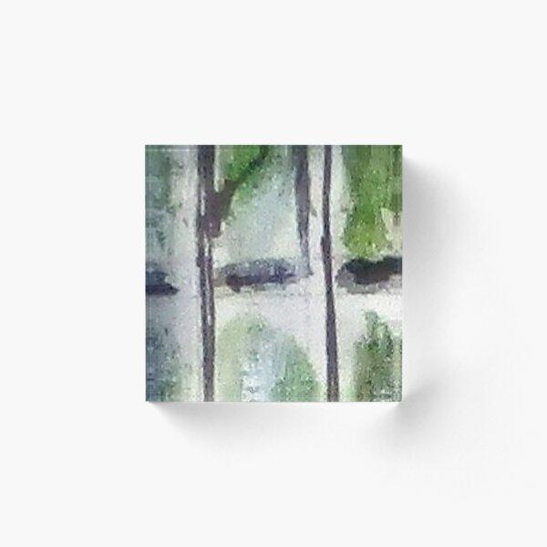 Digital Abstract N14. Acrylic Block