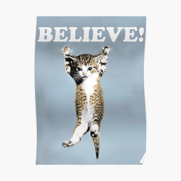 Believe Cat Poster Poster