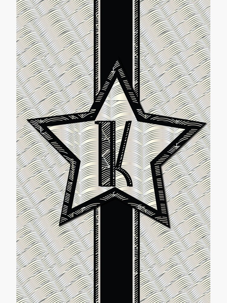 STAR of the SHOW art deco style letter K by CecelyBloom