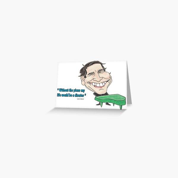 Jools Holland 'quote caricature' - Hand drawn original print  Greeting Card