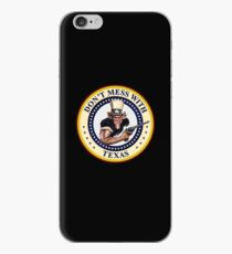 DON'T MESS WITH TEXAS  -  LONE STAR STATE - Uncle Sam with Gun iPhone Case