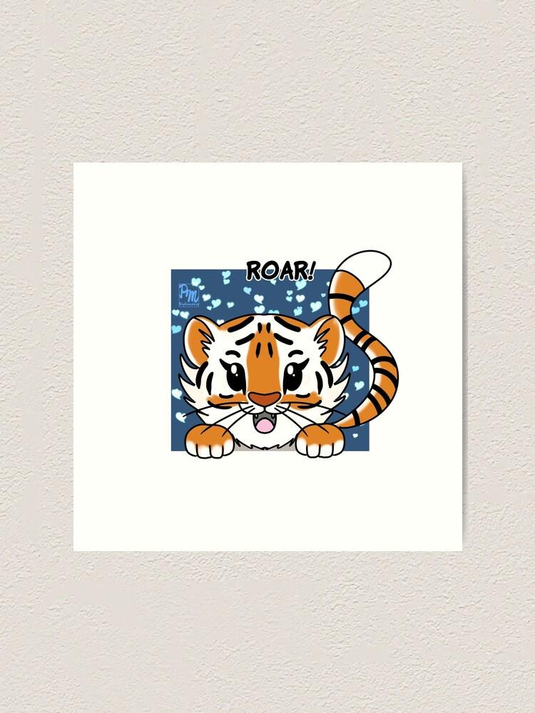 Alternate view of Little Tiger Art Print