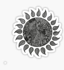 sun doodles Sticker