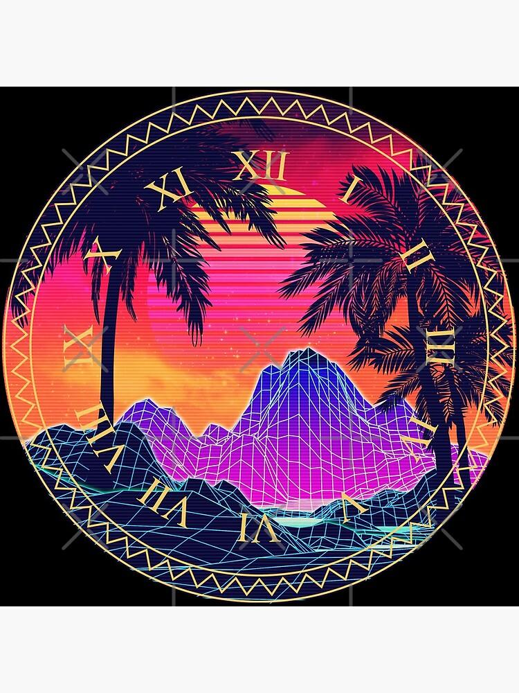 80s Vaprwave rocks and palm trees design by AnnArtshock