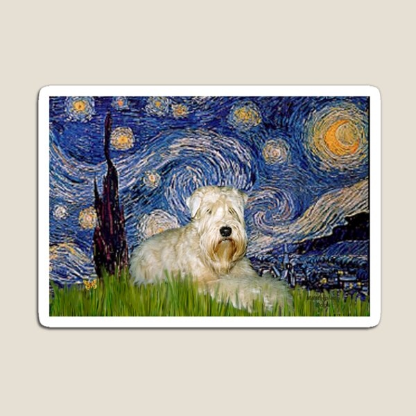 Soft Coated Wheaten Terrier in Starry Night Magnet