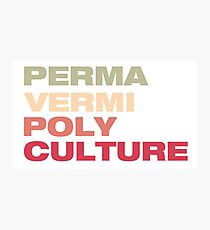 PermVermiPoly Culture Photographic Print