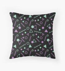 Memphis Pattern Green / Purple Throw Pillow