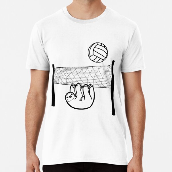 Lazy sloth plays volleyball Premium T-Shirt