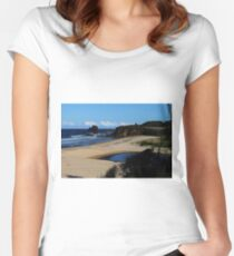 GlassHouse Rocks  Beach #8, Narooma Women's Fitted Scoop T-Shirt