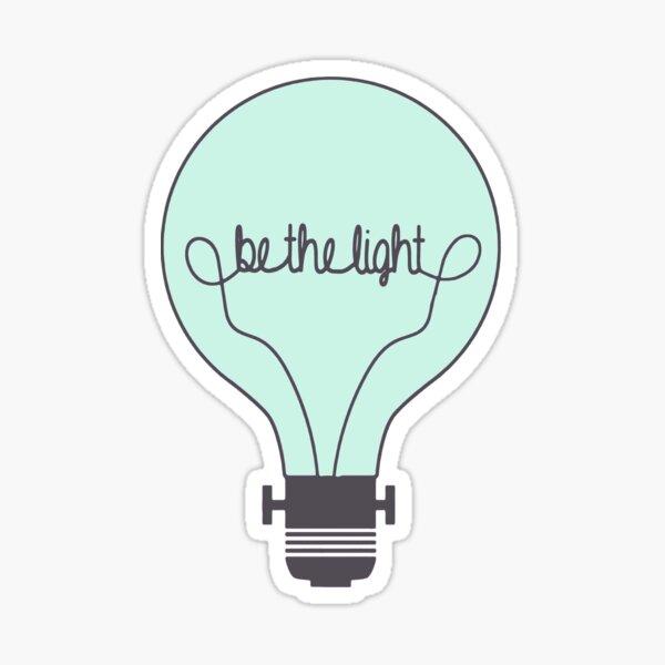 Be the Light Blue Sticker