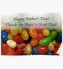 Father's Day card for a 'sweet' Dad Poster