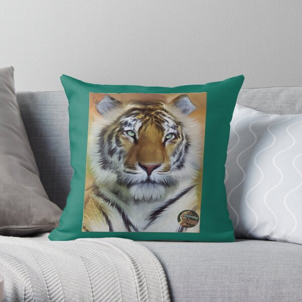 DTE - Tiger Beauty Throw Pillow