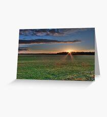 Sunrise in White Kirk Greeting Card