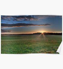 Sunrise in White Kirk Poster