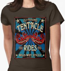 Tentacle Rides Poster Art Womens Fitted T-Shirt