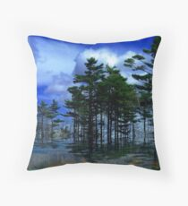 Tree Lined ! Throw Pillow