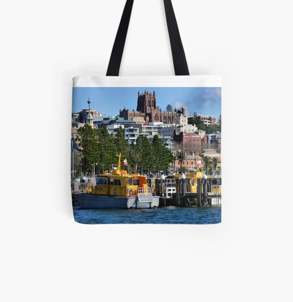 The Pilot Station - Newcastle NSW Australia All Over Print Tote Bag