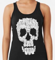 Skulls are for Pussies Racerback Tank Top