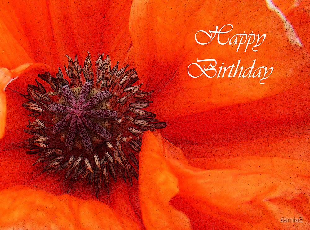 Poppy Birthday Card by sarnia2