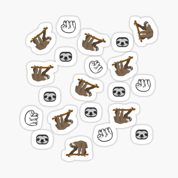 Sloths sticker pack Sticker