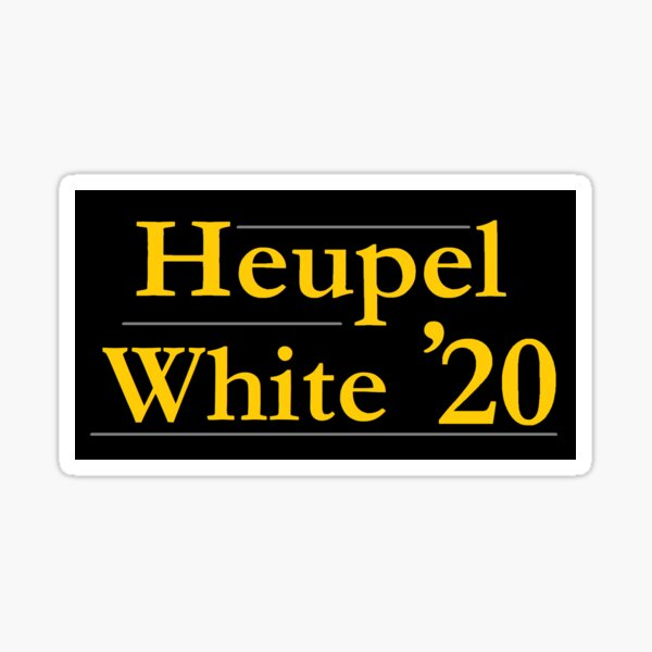 Heupel White '20 UCF Campaign Sign, UCF Colors Sticker